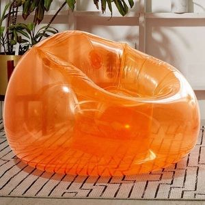 Urban outfitters trixie orange inflatable chair